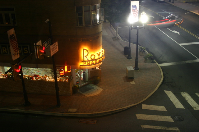 Photo of Royer's Pharmacy at Night